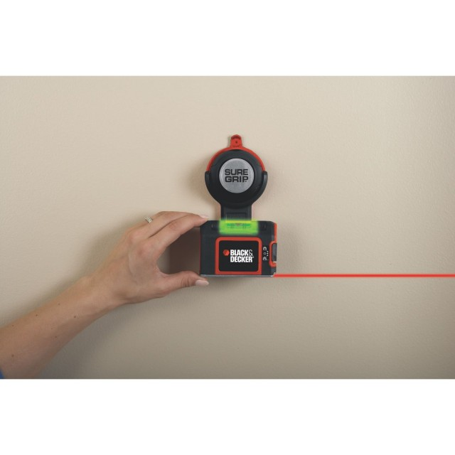 Black & Decker SureGrip laser level makes everything perfectly straight