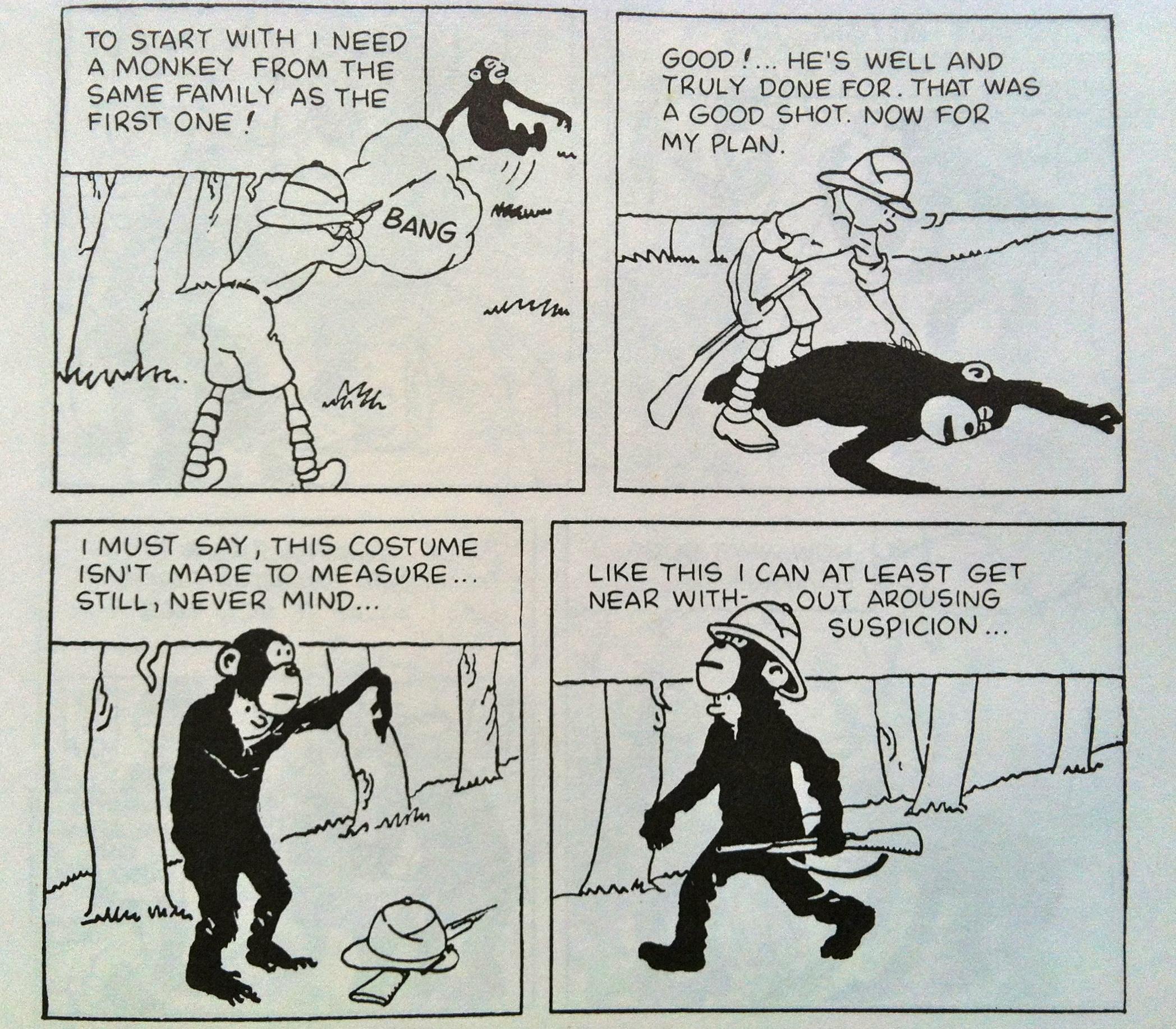 Tintin In The Congo Monkey Skinning 187 Eftm