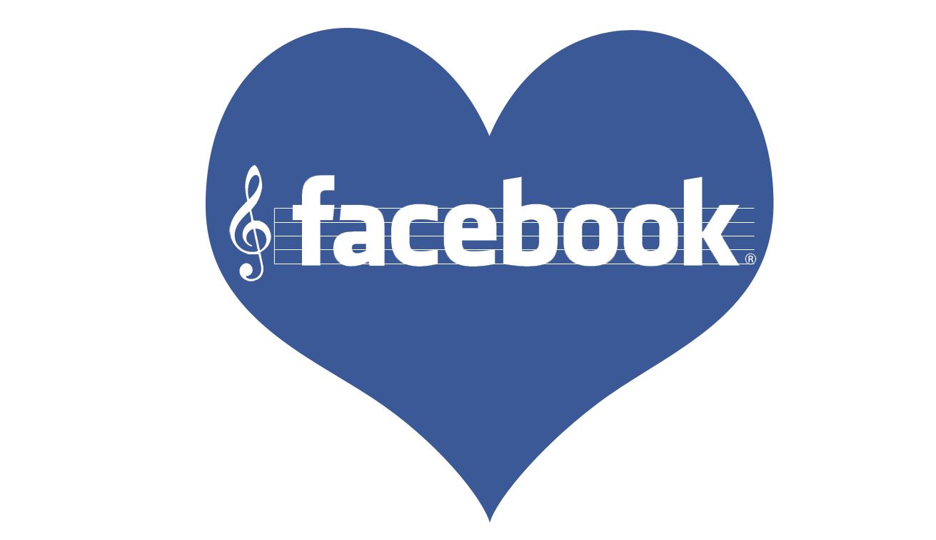 Facebook love music mashup logo