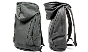 Puma backpack has its own hoodie for rainy days