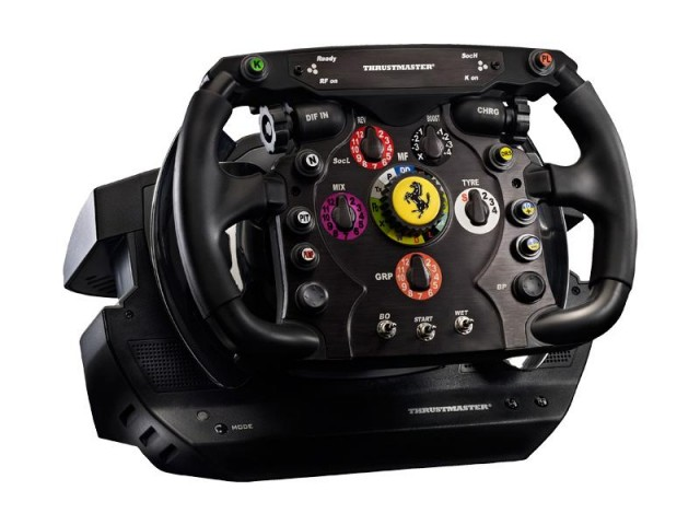 Up close - the Ferrari replica steering wheel from Thrustmaster