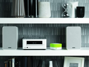 The Jongo A140B attached to a HiFi system