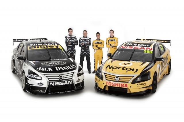 Nissan Motorsport Australia's two new look cars