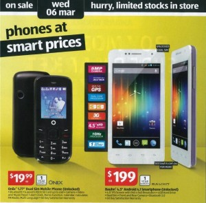 Aldi Mobile Phones - Image Credit: Ausdroid