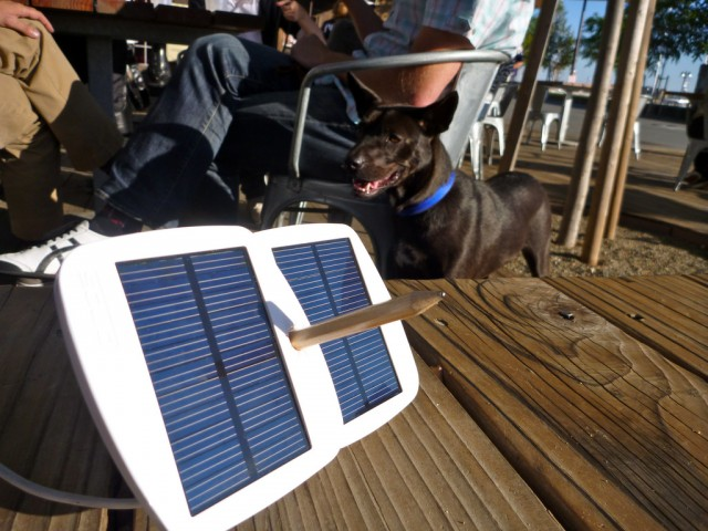 Solio Bolt solar powered battery pack - comes with Pencil for support
