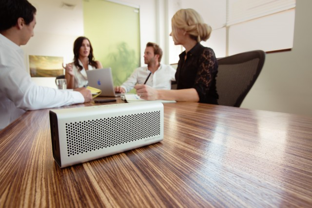 Braven speaker as a conference call speakerphone