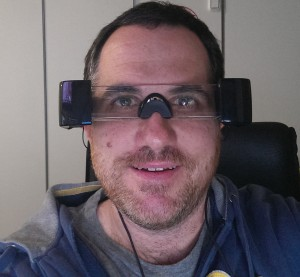 Wearing the Epson Moverio BT-100's - Yep, I know I look silly