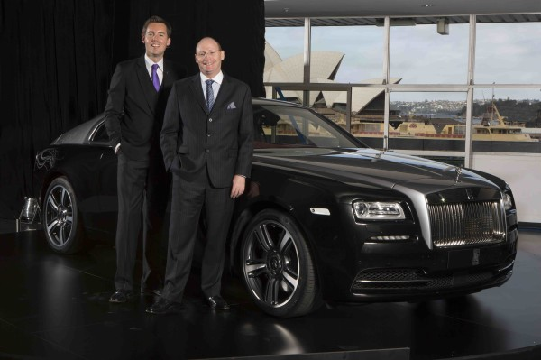 Rolls Royce Wraith - Dan Balmer General Manager Asia Pacific & Paul Harris Regional Director Asia Pacific