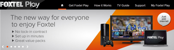 Foxtel Play - Website