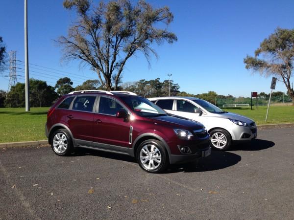 Side by side - Hyundai ix35 & Holden Captiva 5
