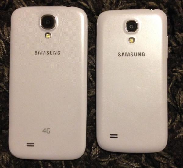 Samsung Galaxy S4 compared to Samsung Galaxy S4 mini