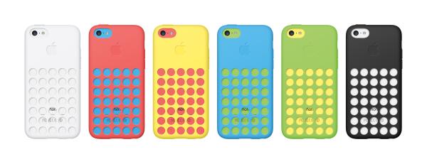 iPhone 5C phones in Apple cases