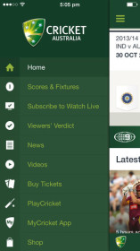 Cricket Australia Live app