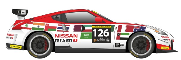 Artists impression of the Nissan 370Z to be driven by James Moffat & Team in Dubai