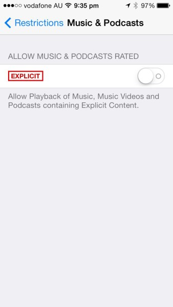 Apple iOS Restrictions: Restrict Explicit Podcasts and Music