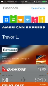 Apple Passbook with AMEX