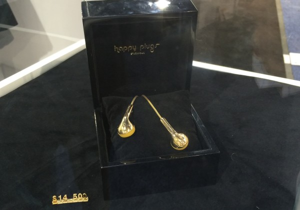 Happy Plugs solid gold earphones