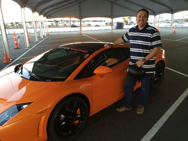 Trevor Long at Exotics Racing with the Lamborghini Gallardo