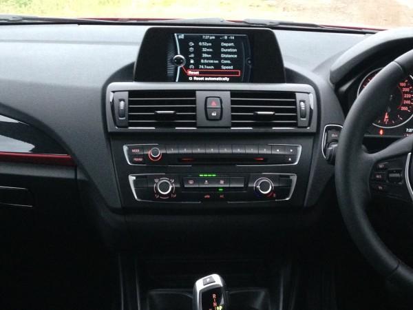 BMW 116i Centre Console