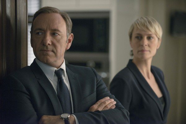 Kevin Spacey as Frank Underwood & Robin Wright as Claire Underwood in HoC 2 on showcase