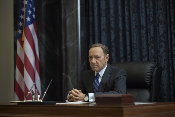 Kevin Spacey as Frank Underwood in HoC 2 on showcase