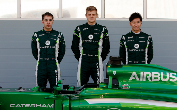 The Caterham F1 team drive line up for 2014