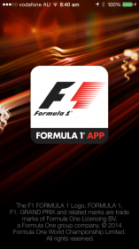 Official F1 App for 2014