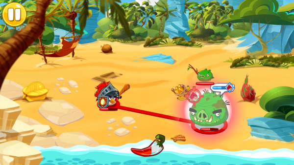 Level gameplay in Angry Birds Epic