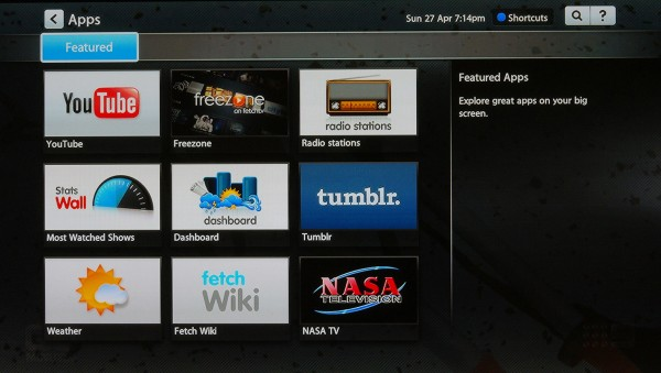 Additional apps and content available on the Fetch TV box