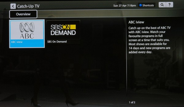 ABC iView and SBS OnDemand