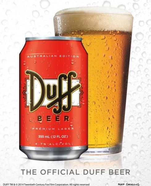 Duff Beer hits Australia