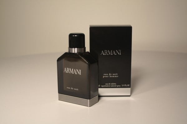 The new Eau De Nuit fragrance from Georgio Armarni