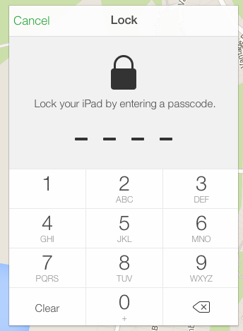 The scammer sets a new passcode which you don't know