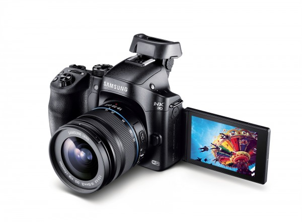 Samsung NX30 and 18-55 lens extended