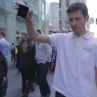 "VIDEO: iPhone 6 dropped in a ""smash test"" right outside Sydney Apple Store"