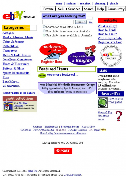 eBay Website_1999