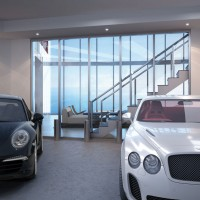Park your luxury car inside your 60th floor apartment in the Porsche Design Tower Miami