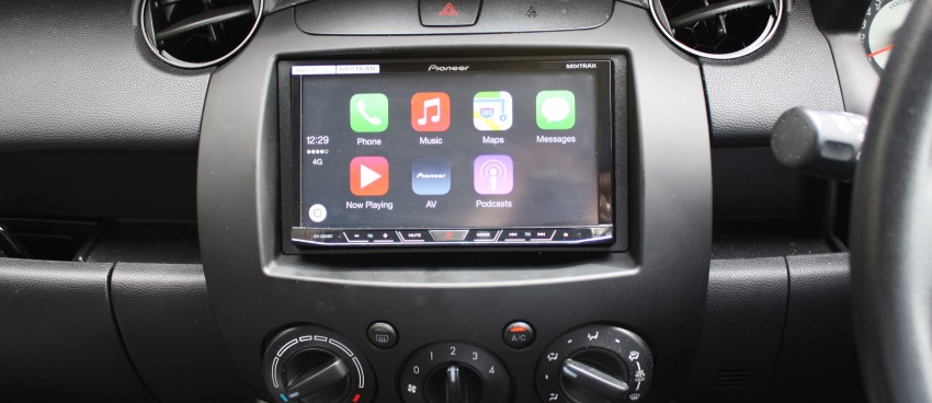 pioneer apple carplay. with the help of a made-to-fit face-plate for stereo, new pioneer double-din touch-screen stereo was installed, and if you didn\u0027t know better, apple carplay