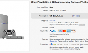 20th Anniversary Playstation 4's selling for thousands of dollars on eBay