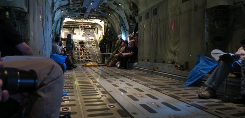 Cargo area on the C130J