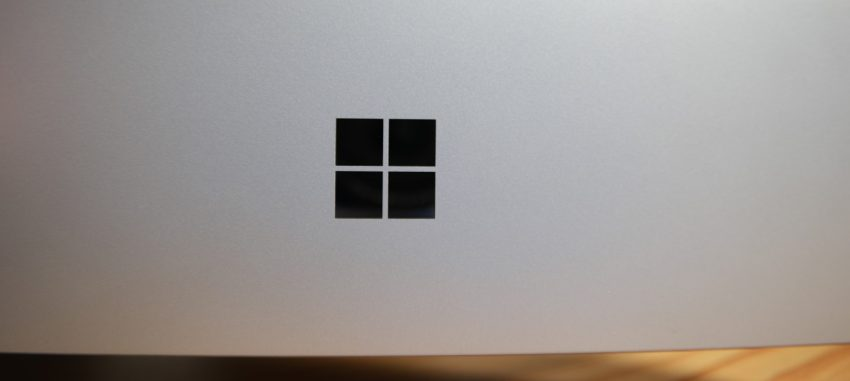 Oh, and the Surface logo on the back is gone - replaced with this Windows mirror finish