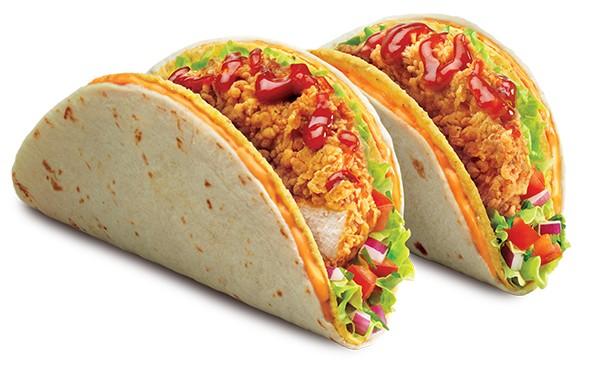 KFC Double Shell Zinger Tacos