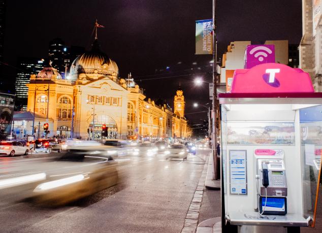 Telstra Air hotspot Melbourne