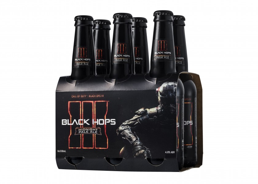 Call of Duty Black Hops Beer - 6-pac_no background