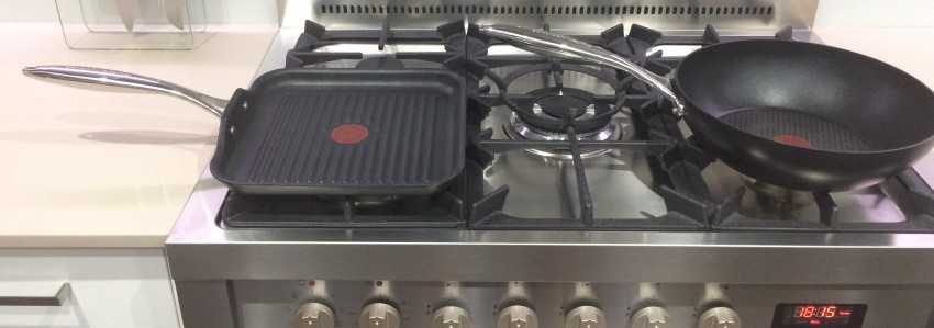 Left: Tefal Triply Grill Pan Right: Tefal Saucepan