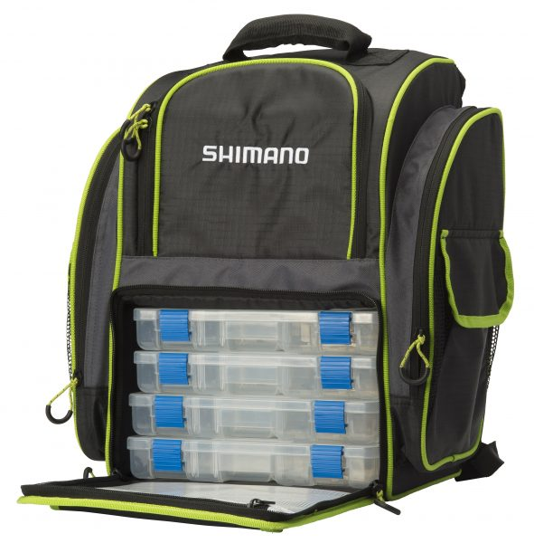 Shimano Back Pack & 4 Tackle Boxes 2