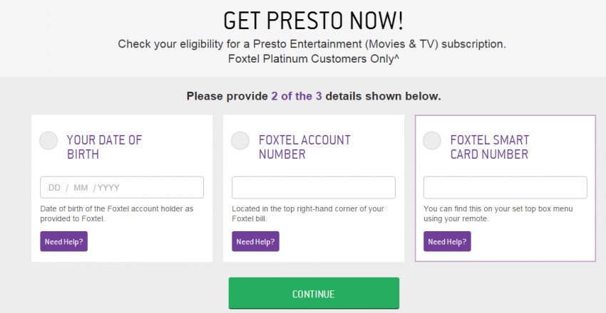 how to watch presto on foxtel