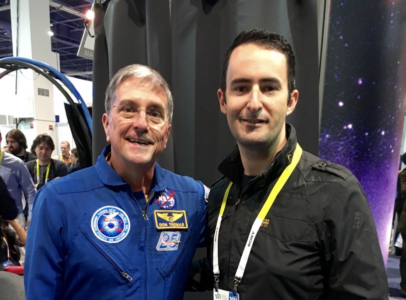 Donald Thomas with Lifestyle Editor Geoff Quattromani