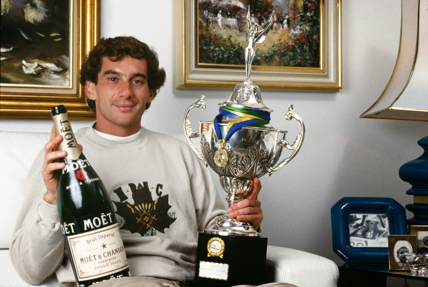 Ayrton Senna with Moët et Chandon