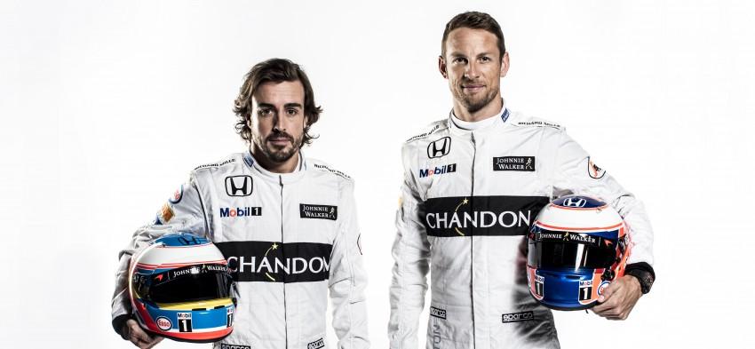 Fernando Alonso & Jenson Button Close Up Portrait